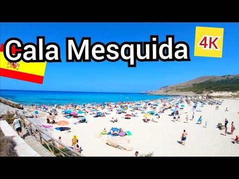 ⁴ᴷ CALA MESQUIDA beach walking tour 🇪🇸 Mallorca, Spain (Majorca) 4K